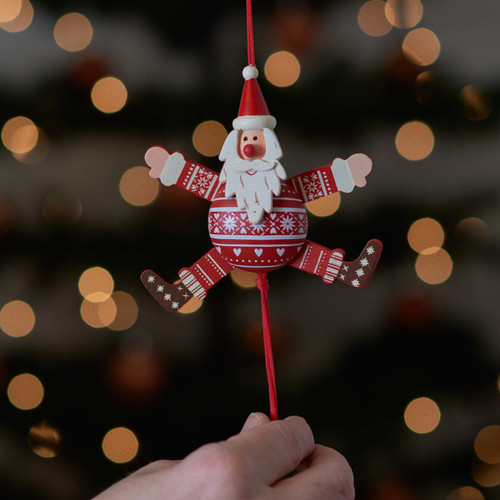 Buy Festive Santa Jumping Jack From The Crafty Giraffe, the home of unique and affordable gifts for loved ones...