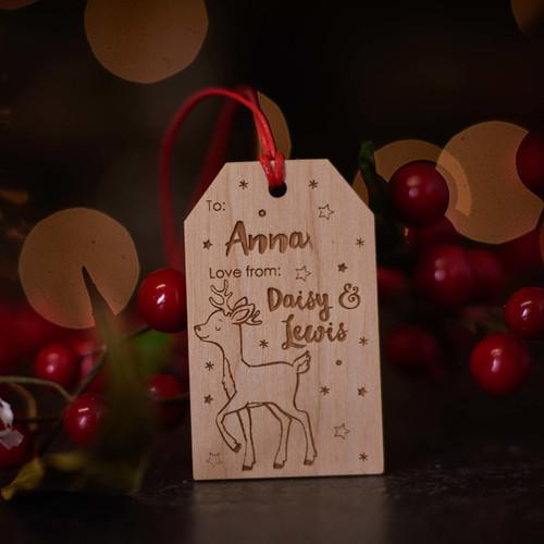 Personalised Christmas Reindeer Gift Tags - The Crafty Giraffe