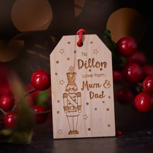 Personalised Christmas Toy Soldier Gift Tags - The Crafty Giraffe