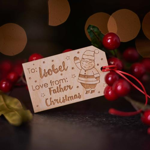Personalised Christmas Santa Gift Tags - The Crafty Giraffe