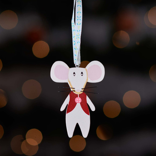 Buy Wooden mouse with red waistcoat From The Crafty Giraffe, the home of unique and affordable gifts for loved ones...