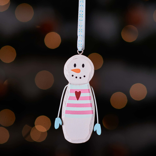 Buy Hanging Snowman with heart From The Crafty Giraffe, the home of unique and affordable gifts for loved ones...