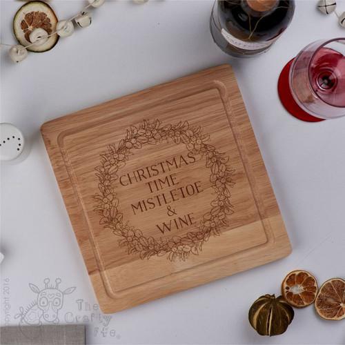 Personalised - Mistletoe and Wine board