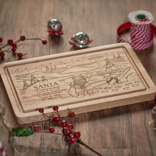Personalised North Pole Santa Platter