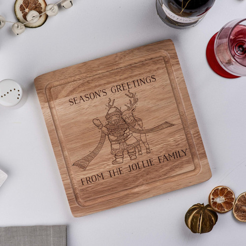 Buy Personalised Season's Greetings board From The Crafty Giraffe, the home of unique and affordable gifts for loved ones...