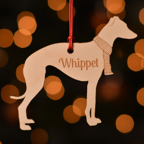 Personalised Whippet Dog Pet Decoration - The Crafty Giraffe