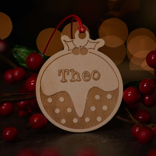 Personalised Christmas Pudding Decoration - The Crafty Giraffe