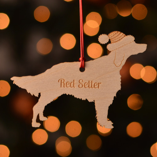 Personalised Red Setter Dog Pet Decoration - The Crafty Giraffe