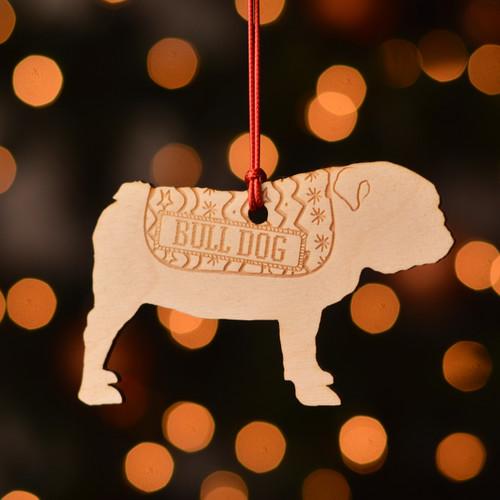 Personalised BullDog Dog Pet Decoration - The Crafty Giraffe