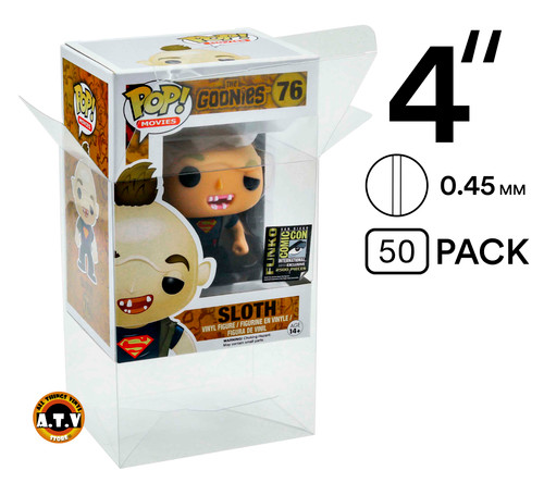 "ATV 4""(0.45mm) Funko Pop Protectors - [Pack of 50]"