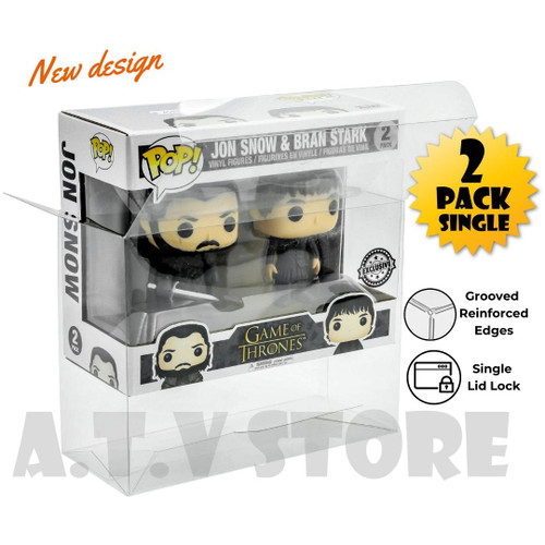 ATV 2 Pack Funko Pop Protector/Case