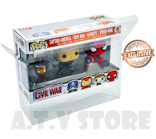 ATV Civil War 4 Pack (Key chain pack) Funko Pop Protector