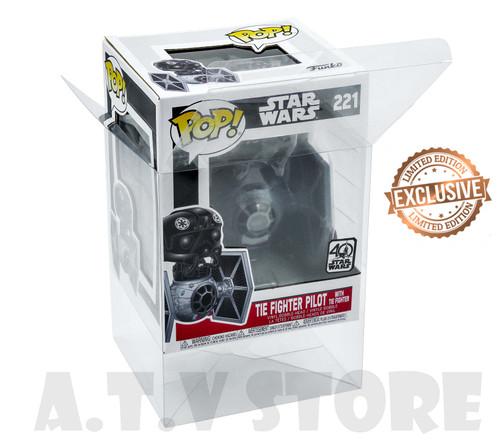 Darth Vader with Tie Fighter / Tie Fighter Pilot Pop Protector Case x1