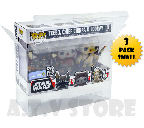 ATV 3 Pack Small Funko Pop Protector/Case
