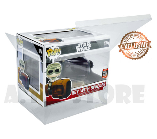 Star Wars Rey With Speeder Funko  Pop Protector
