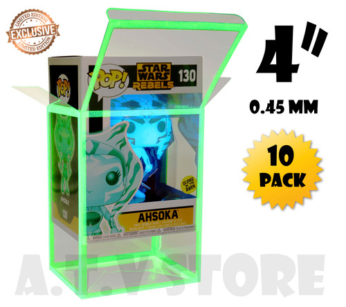 "ATV 4"" Glow In The Dark Funko Pop Protectors - [Pack of 10]"