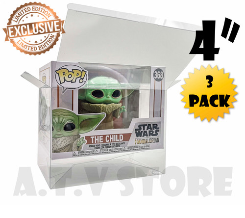 "ATV 4"" Rectangle  Funko Pop Protectors - [Pack of 3]"