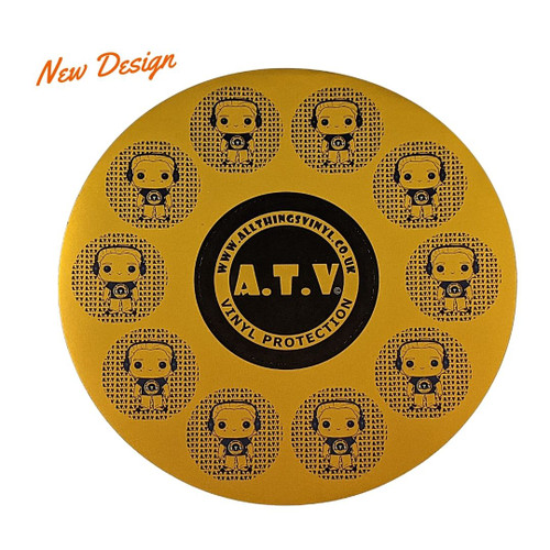 ATV Metallic Gold Stickers - [Pack of 11]