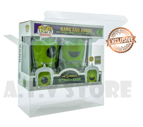 ATV The Simpsons Kang & Kodos Funko Pop 2 Pack Protector Case