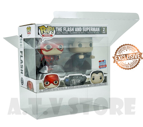 ATV The Flash & Superman Racing Funko Pop 2 Pack Protector Case