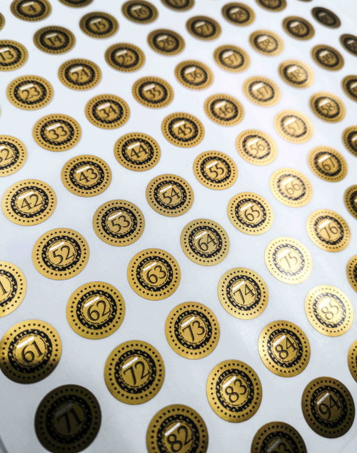 ATV Metallic Gold  Grail Collection Stickers - [Pack of 100]