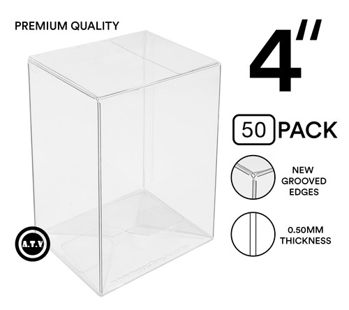 "ATV 4"" Grooved Edge 0.50mm Pop Protectors - [Pack of 50]"