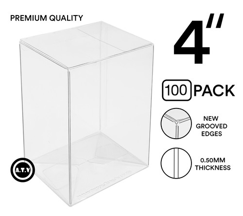 "ATV 4"" Grooved Edge 0.50mm Pop Protectors - [Pack of 100]"