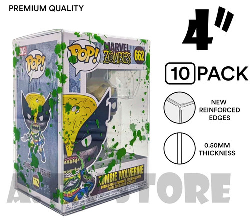 "ATV 4"" Green Blood Splattered Funko Pop Protector - [Pack of 10]"