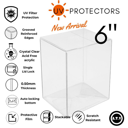 "ATV 6"" UV Funko Pop Protector Case"