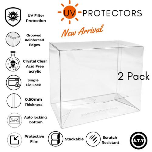 ATV 2 Pack UV Funko Pop Protector/Case X1
