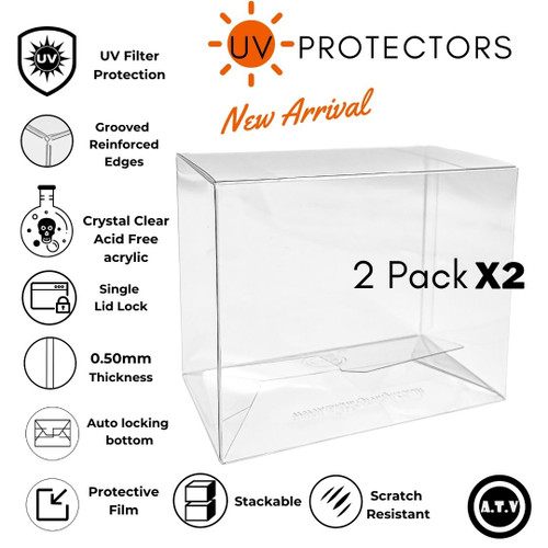 ATV 2 Pack UV  Funko Pop Protector/Case X2