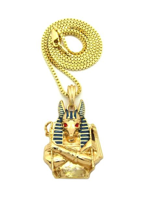 "18K Egypt-Horse Pendant w/FREE 36"" Chain"