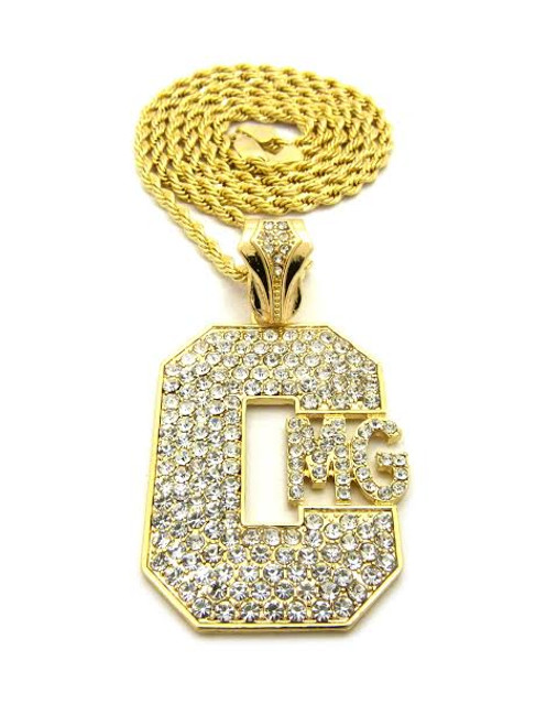 "Yo Gotti Gold Iced Out Pendant w/FREE 36"" Chain 