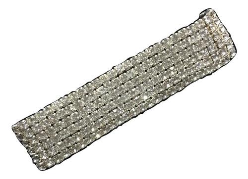 6 Row Ladies Ice Star Bracelet-Silver