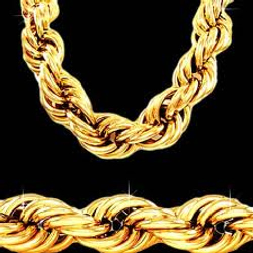 """25MM X 30"""" GOLD ROPE CHAIN"""