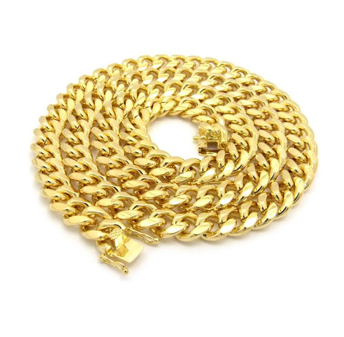 "NEW-10mm Fat 26"" Gold Miami Cuban Chain"