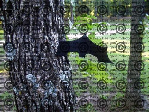 Carbon Steel Teflon Coated Batarang - BLACK