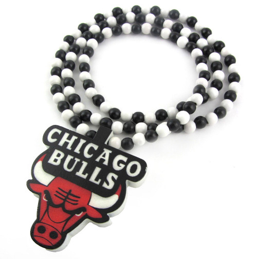Chicago Bulls wooden pendant-Black, White, Red | Jordan