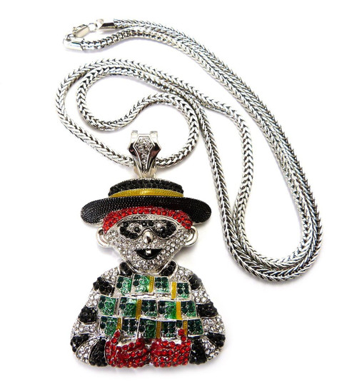 ICED OUT HAMBURGLAR PENDANT & FRANCO CHAIN