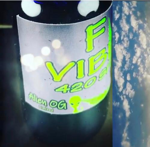 F-Vibes 420 Alien OG strain Aphrodisiac massage oil 2 Oz.