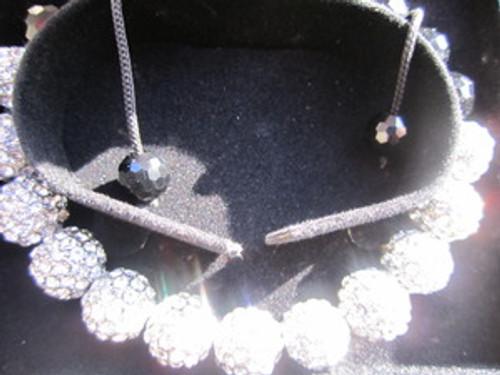 KAYNE- WHITEBALL Shambhala Bracelet 12MM CRYSTAL W/BOX