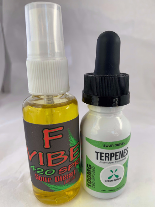 1 oz. F-Vibes 420 Sour Diesel Organic Aphrodisiac Female Enhancer intensify sexual arousal boost desire!