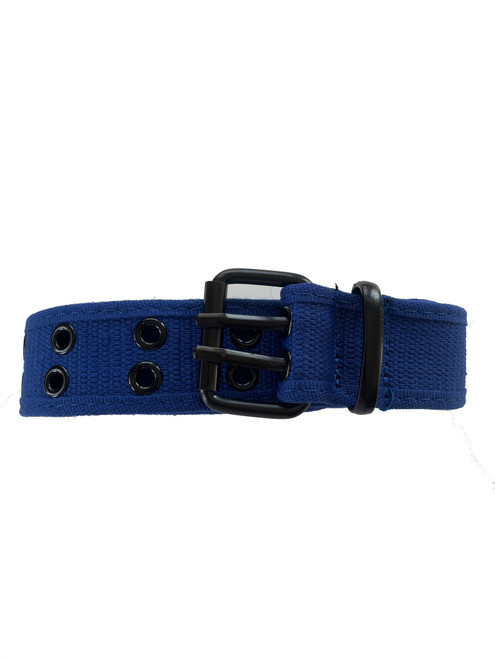 the blue canvas belt