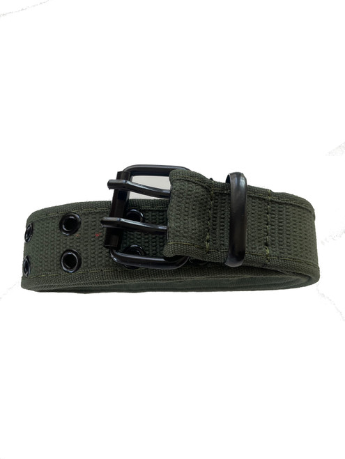 the green Army Canvas belt