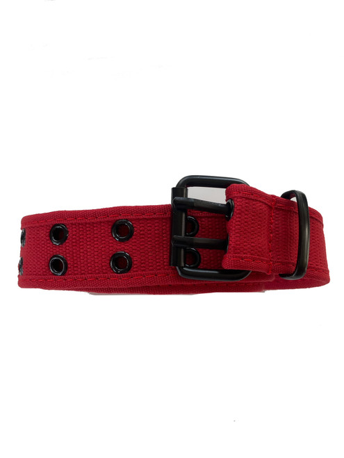 the red Canvas belt