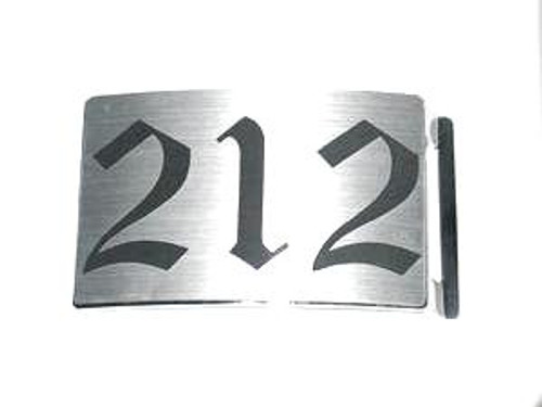 212 Area code NYC Brushed Aluminum belt buckle