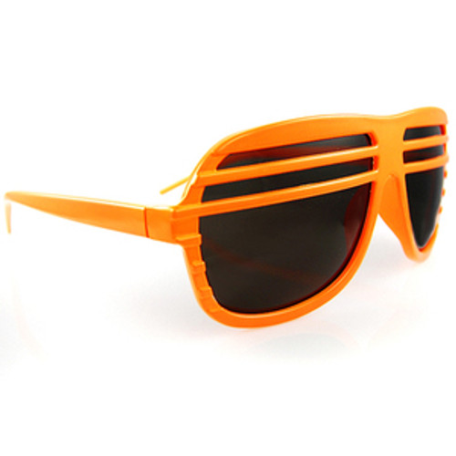 Neon Orange Half Shutter Shade with Lens Sunglasses SOLD OUT!