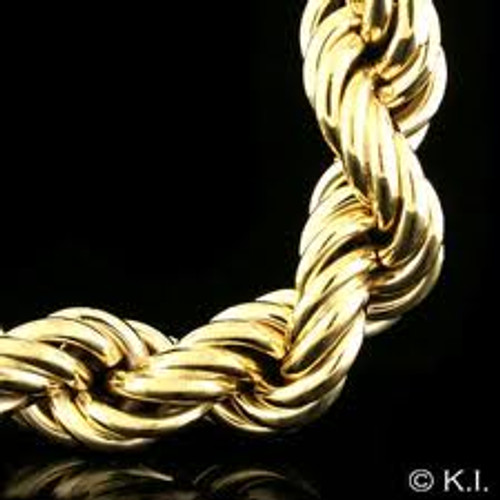 """30MM X 30"""" NEW FAT GOLD ROPE CHAIN.."""