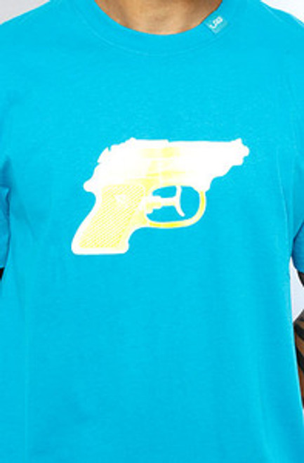 LRG Gun Blue WaterPistol | T-Shirt  XL Only!!  Limited!