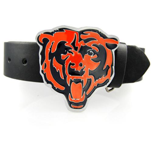 NFL Bears BKL/Orange Bear Head Belt Buckle